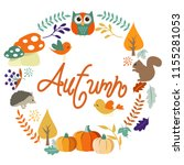 autumn harvest and thanksgiving ... | Shutterstock .eps vector #1155281053