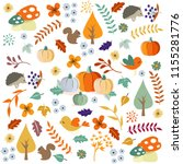 hello autumn. autumn leaves... | Shutterstock .eps vector #1155281776