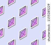 gemstone pattern. seamless... | Shutterstock .eps vector #1155285229