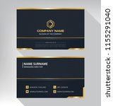 business model name card luxury ... | Shutterstock .eps vector #1155291040