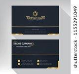 business model name card luxury ... | Shutterstock .eps vector #1155291049