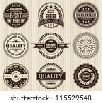 vector set of retro labels | Shutterstock .eps vector #115529548