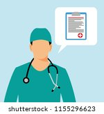 doctor with stethoscope.medical ...   Shutterstock . vector #1155296623
