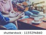 christian family worship god in ...   Shutterstock . vector #1155296860