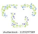 periwinkle decorative borders | Shutterstock . vector #1155297589