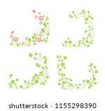 decorative spring floral green... | Shutterstock . vector #1155298390