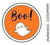 halloween sticker with cute... | Shutterstock .eps vector #1155299599