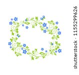 beautiful decorative floral... | Shutterstock . vector #1155299626