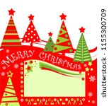 xmas red green tag for sale... | Shutterstock . vector #1155300709