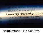 twenty twenty word in a... | Shutterstock . vector #1155300796