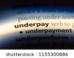 underpay word in a dictionary.... | Shutterstock . vector #1155300886
