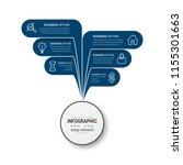 modern infographic options... | Shutterstock .eps vector #1155301663