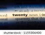 twenty word in a dictionary.... | Shutterstock . vector #1155306400
