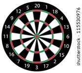Classic Darts Board With Twenty ...