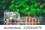 saving money concept.coin in... | Shutterstock . vector #1155316579