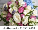 beautiful spring flowers on... | Shutterstock . vector #1155317413