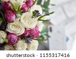 beautiful spring flowers on... | Shutterstock . vector #1155317416