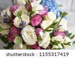 beautiful spring flowers on... | Shutterstock . vector #1155317419