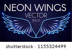 neon wings. fire and flame.... | Shutterstock .eps vector #1155324499
