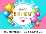 happy birthday  celebration ... | Shutterstock .eps vector #1155324526