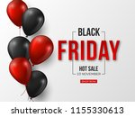 black friday sale typographic... | Shutterstock .eps vector #1155330613