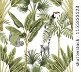 tropical vintage animals ... | Shutterstock .eps vector #1155333523