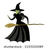 evil wicked witch | Shutterstock .eps vector #1155333589
