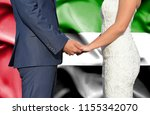 husband and wife holding hands  ...   Shutterstock . vector #1155342070