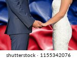 husband and wife holding hands  ... | Shutterstock . vector #1155342076