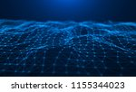 abstract technology background. ... | Shutterstock . vector #1155344023