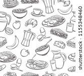 vector seamless pattern hand... | Shutterstock .eps vector #1155348460