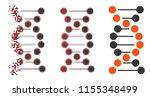 vector dna molecule icon in...   Shutterstock .eps vector #1155348499