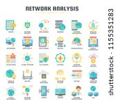 network analysis   thin line... | Shutterstock .eps vector #1155351283