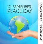 internationnal peace day... | Shutterstock .eps vector #1155358933