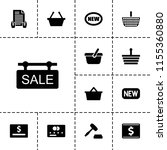 purchase icon. collection of 13 ... | Shutterstock .eps vector #1155360880