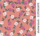 seamless ditsy pattern in small ... | Shutterstock .eps vector #1155361693