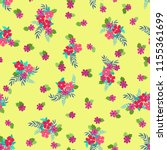 seamless ditsy pattern in small ... | Shutterstock .eps vector #1155361699