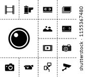 film icon. collection of 13... | Shutterstock .eps vector #1155367480