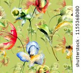floral seamless pattern ...   Shutterstock . vector #1155368080