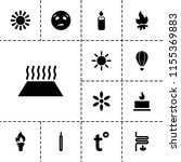 heat icon. collection of 13...   Shutterstock .eps vector #1155369883