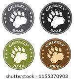 bear paw print circle logo... | Shutterstock . vector #1155370903