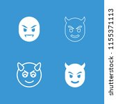 evil icon. collection of 4 evil ... | Shutterstock .eps vector #1155371113