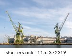 kobe  japan  jul 01 2017  crane ... | Shutterstock . vector #1155372319