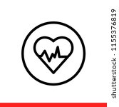 heart rate vector icon  health... | Shutterstock .eps vector #1155376819