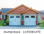garage door in vancouver ... | Shutterstock . vector #1155381370