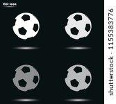 soccer ball flat grayscale... | Shutterstock .eps vector #1155383776