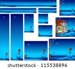 christmas banners with snowman... | Shutterstock . vector #115538896
