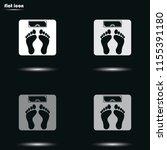 weighting flat grayscale vector ... | Shutterstock .eps vector #1155391180