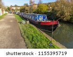 houseboats at bath water... | Shutterstock . vector #1155395719
