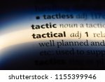 tactical word in a dictionary.... | Shutterstock . vector #1155399946